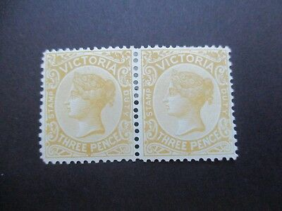Victoria Stamps: 3d Yellow Pair Mint  (i11)