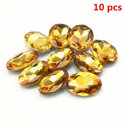 10Pcs Yellow Gem Oval Shape Sapphire Natural Loose Gemstone Jewelry Gifts TR