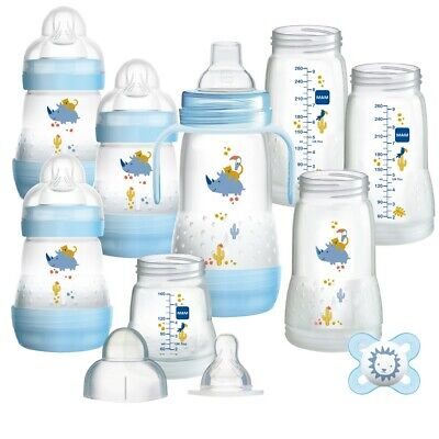 MAM Anti-Colic Self Sterilising Newborn Starter Bottle Set Blue