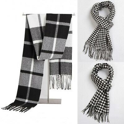 US Men Women Winter Warm Scarf Solid Plaid Wool SCOTLAND Good quality Scarf Wrap