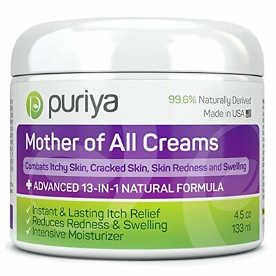 Puriya Cream For Eczema, Psoriasis, Rosacea, Dermatitis, Shingles & Rashes 4.5oz