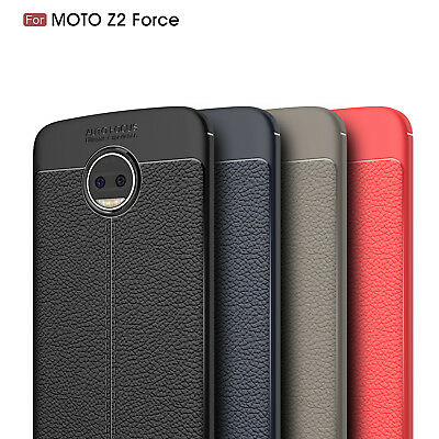For Motorola Moto Z2 Force Ultra Thin Luxury PU Leather Soft TPU Shockproof Case