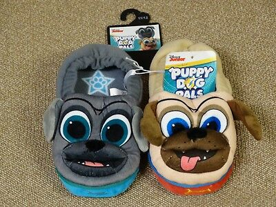 Puppy Dog Pals Slippers ~ Toddler Boys 11/12 ~ Bingo Rolly ~ Disney ~ New!