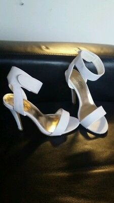 Marco Gianni shoes size 7 as new. White heels sandals party wedding genuine
