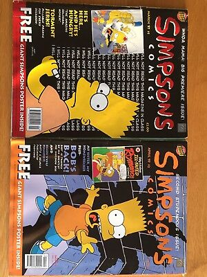 Simpsons Comics Issue No 1 and 2