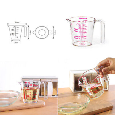 250ml Plastic Measuring Jug Cup Graduated Surface Cooking Bakery Lab Kitchen
