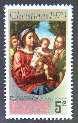 1970 Christmas Island Stamps - Christmas - Virgin & Child Single 5c MNH