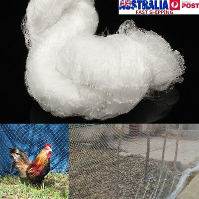 15x2.4m White Nylon Knitted Anti Bird Netting Commercial Grade Pest Net Mesh