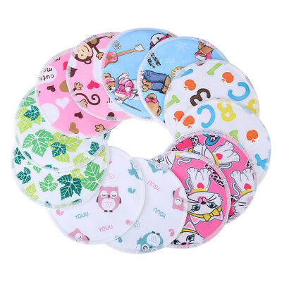 12x Cute Bamboo Reusable Breast Pads - Washable Nursing Pads for Breastfeeding