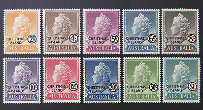 1958 Christmas Island Stamps - Queen Elizabeth II Definitives-Complete Set10 MNH