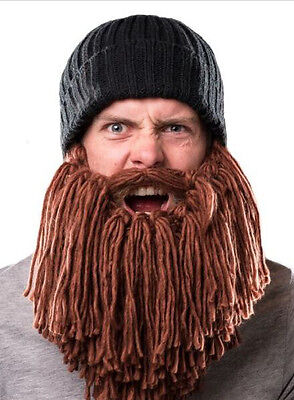 6b1193b4ad1 Men Funny Beard Mustache Hat Barbarian Looter Knit Crochet Beanie Cap  Winter Hot