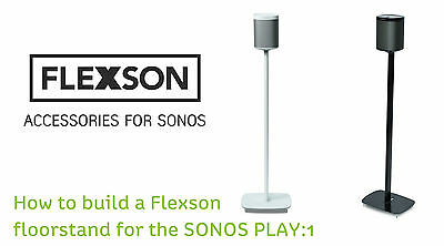 Sonos Play1: FLEXSON FLOOR STAND :1  PAIR IN Black  (WHITE ALSO AVAILABLE )