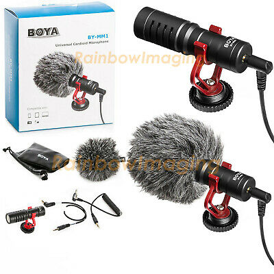 BOYA BY-MM1 Universal Cardiod Shotgun Microphone MIC Video for Smartphone Camera