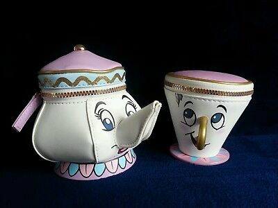 Primark Disney Mrs Potts & Chip Coin Purse Set Beauty and the Beast NEW BNWT