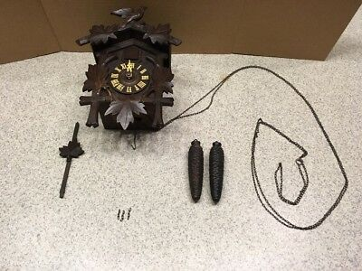 Old Antique German Cuckoo Clock Co Restore / Parts 02595