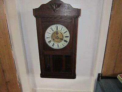 Antique Oak Stunning Wall Clock