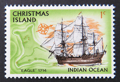 1972 Christmas Island Stamps - Sailing Ships Definitives - Single 1c MNH