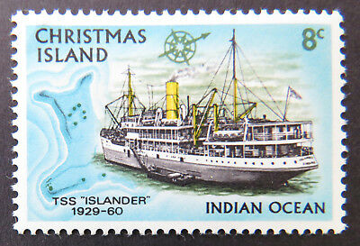 1972 Christmas Island Stamps - Sailing Ships Definitives - Single 8c MNH