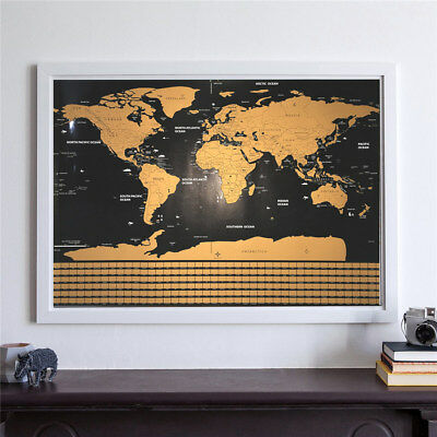 Scratch off WORLD MAP poster wall travel - Collector edition BIG SIZE