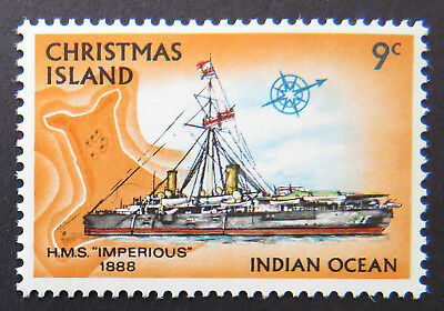1973 Christmas Island Stamps - Sailing Ships Definitives - Single 9c MNH