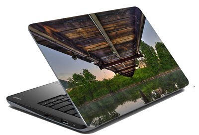 "Bridge Nature Laptop Skin Notebook Protector Art Sticker Cover Fit 14.1"" x 15.6"""