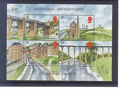 Gb 1990 Industrial Archaeology  Mini Sheet Mint Post Free To The Uk