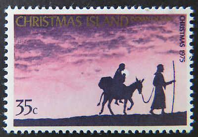 1975 Christmas Island Stamps - Christmas - Mary & Joseph - Single 35c MNH