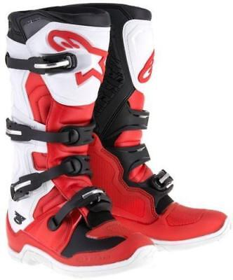 Alpinestars Tech 5 Offroad Boots Red/White/Black 10 US
