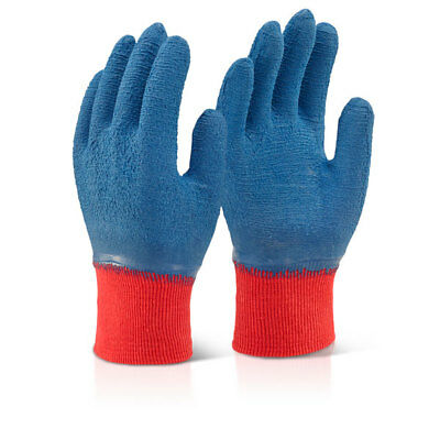 100 Pair Click Latex Rubber Fully Coated Cotton Grip Gripper Work Safety Gloves