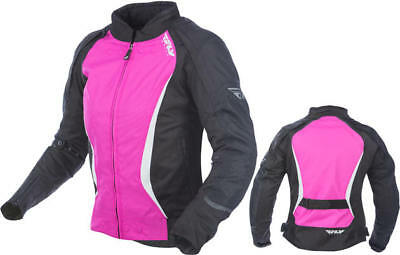 Fly Racing Womens Butane Jacket Black/Pink Medium