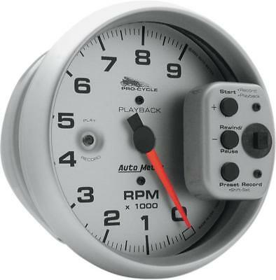 """Auto Meter 5"""" Playback Tachometer Silver Face"""