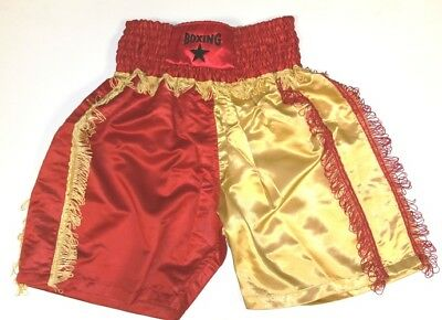 Boxing shorts Gold and Red
