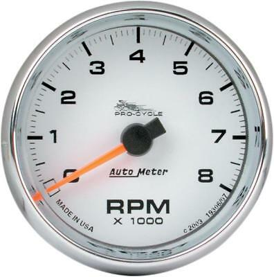 """Auto Meter Electronic Tachometer 2-5/8"""" White Face"""
