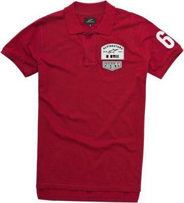 Alpinestars Pivot Polo Short Sleeve Shirt Red Medium
