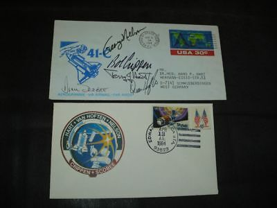 STS 41C launch/landingset orig.signed Crew incl. SCOBEE, SPACE
