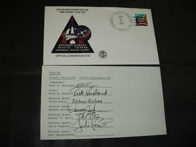 STS 96 launchset orig.signed USA Crew incl.Husband STS 107, SPACE