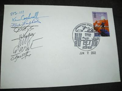 STS 111 cover Houston, orig.signed Crew, SPACE