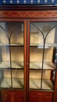 Edwardian Boxwood display cabinet