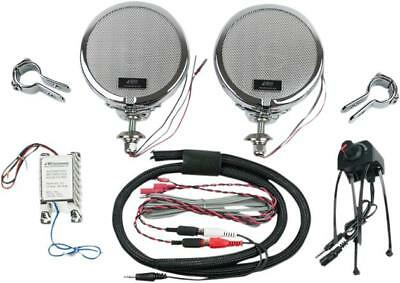 """MH Rumble Road Premium Amplified Stereo Speakers Chrome 1"""""""
