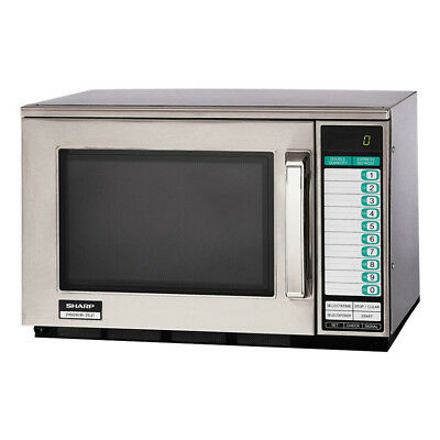 Sharp R-25JTF 2100w Commercial Microwave Oven with Touch Pad, 230v/1ph