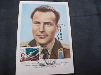 VOSTOK 2 Portraitcard orig.signed TITOV, SPACE