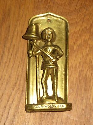 "Antique solid cast brass ""Southwold Jack"" doorknocker 105mm"