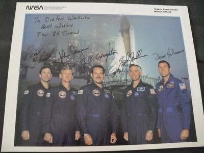 STS 36 NASA LItho orig.signed Crew, SPACE