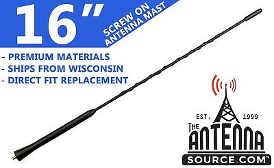 10 Screw-On Antenna is Compatible with Subaru BRZ AntennaMastsRus 2013-2015
