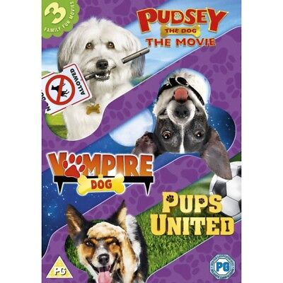Dogs Triple - Pups United/Vampire Dog/Pudsey The Dog Movie DVD Brand New