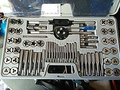 PITTSBURGH 60 Pc SAE & Metric Tap and Die Set with Carrying Case ALLOY STEEL