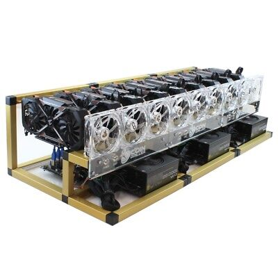 CoinDriller2.0 Zcash BitCoin Gold Cryptocurrency GPU Mining Rig 9xGTX1080TI
