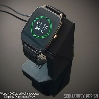 Asus Zenwatch 2 Stand  -Custom Made in the USA- Onyx Black
