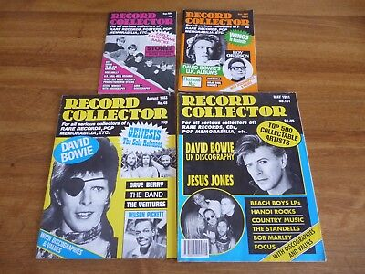 David Bowie - lot of 4 UK Record Collector  magazines - 1980 to 1991