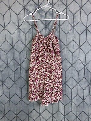 Free People FP ONE Women's Size Large Floral Print Spaghetti Strap Romper NEW